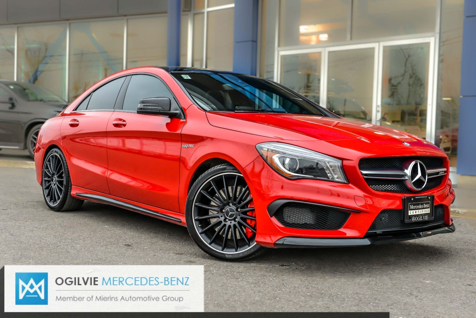pre owned 2015 cla45 amg 4matic coupe for sale 57995 0 mercedes benz ottawa. Black Bedroom Furniture Sets. Home Design Ideas