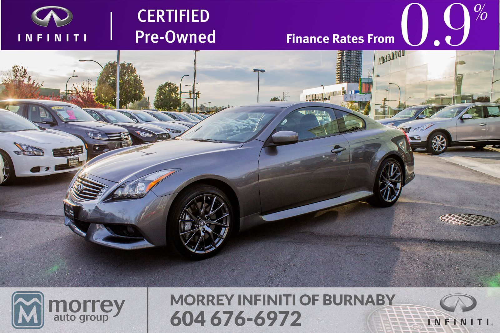 Morrey Nissan Of Burnaby Pre Owned 2012 G37 Coupe Ipl 34 800