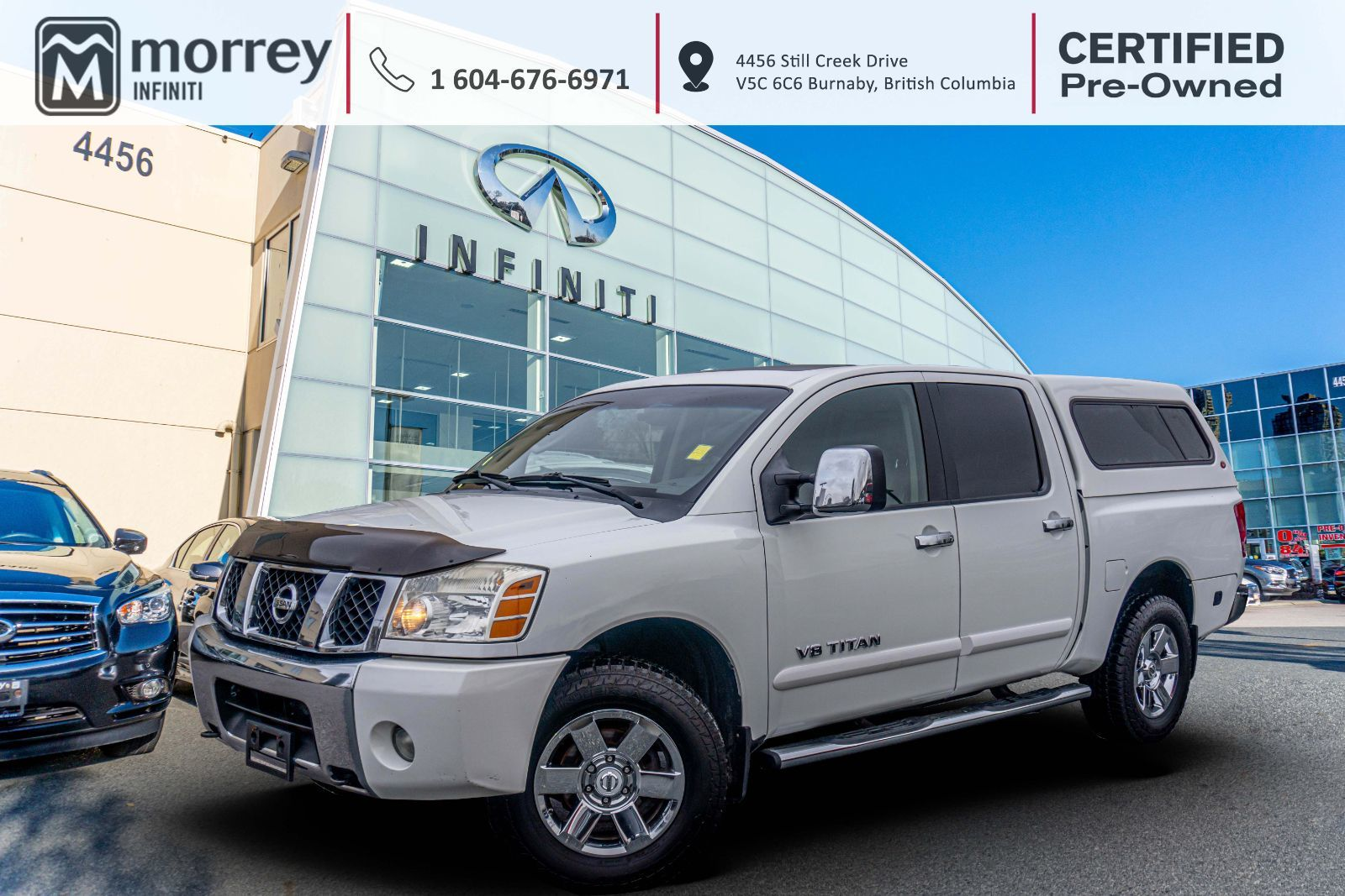 Morrey Nissan Of Burnaby Pre Owned 2007 Titan Le Crewcab 4x4 Leather 10 900