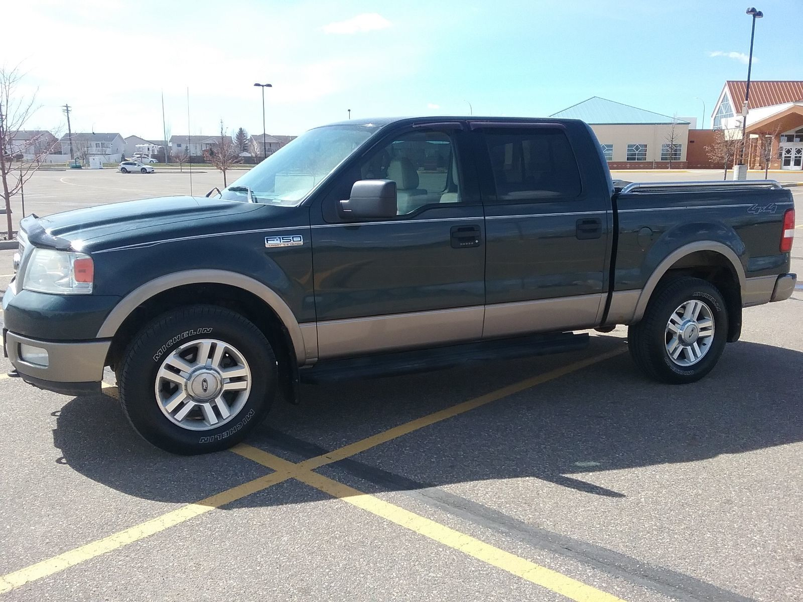 Used 2004 Ford F-150 Supercrew 4x4 Lariat Green 301 304 Km For Sale