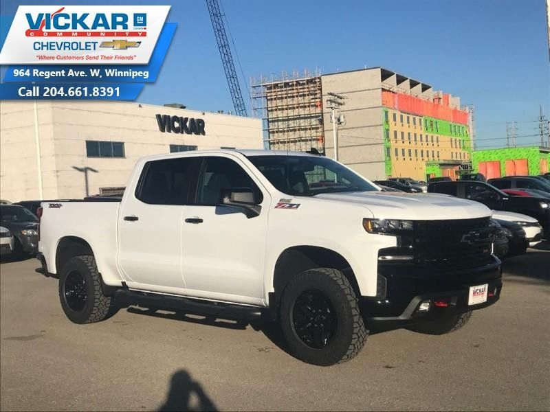 Used Tires Winnipeg >> New 2019 Chevrolet Silverado 1500 LT Trail Boss White for sale - $57920.0 | #KT0535 | Vickar ...
