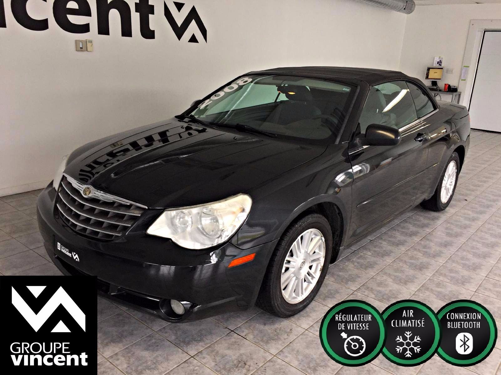 chrysler sebring touring convertible 2008 d 39 occasion trois rivi res hyundai trois rivi res. Black Bedroom Furniture Sets. Home Design Ideas