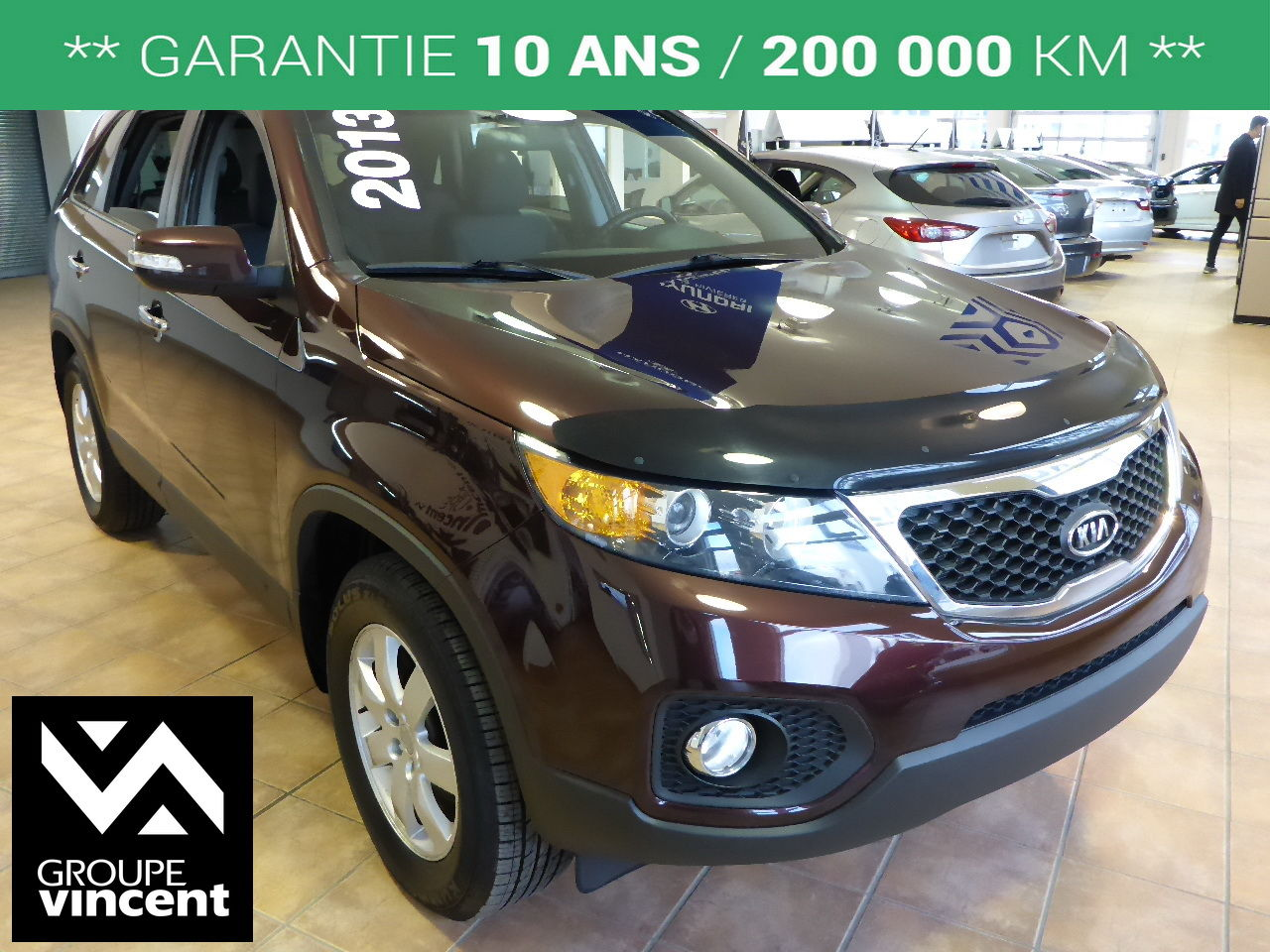 kia sorento lx jantes en alliage 2013 d 39 occasion shawinigan groupe vincent 3230a v. Black Bedroom Furniture Sets. Home Design Ideas