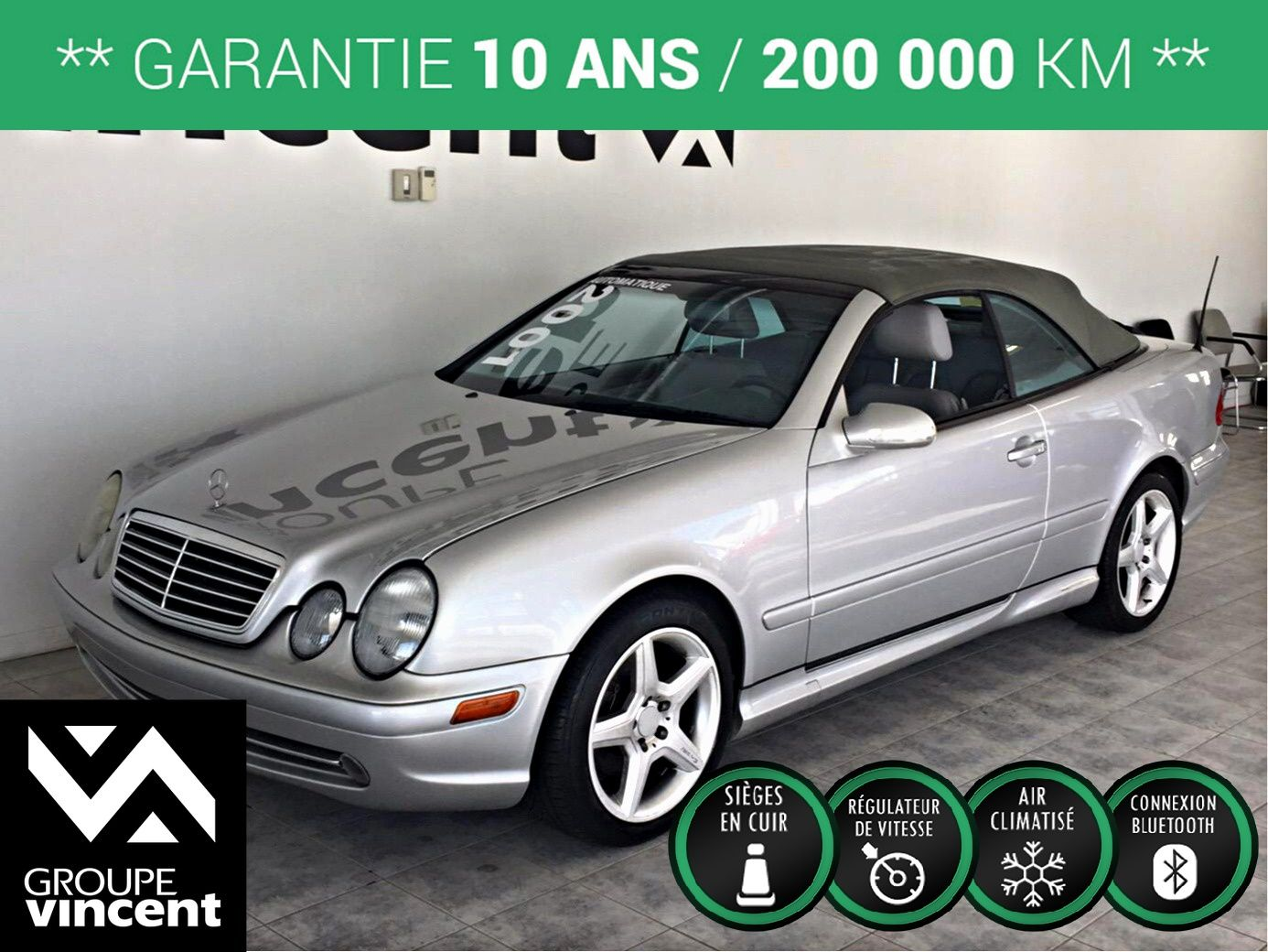 Mercedes benz clk class d capotable 4 3l 2001 d 39 occasion for Mercedes benz of fairfield california
