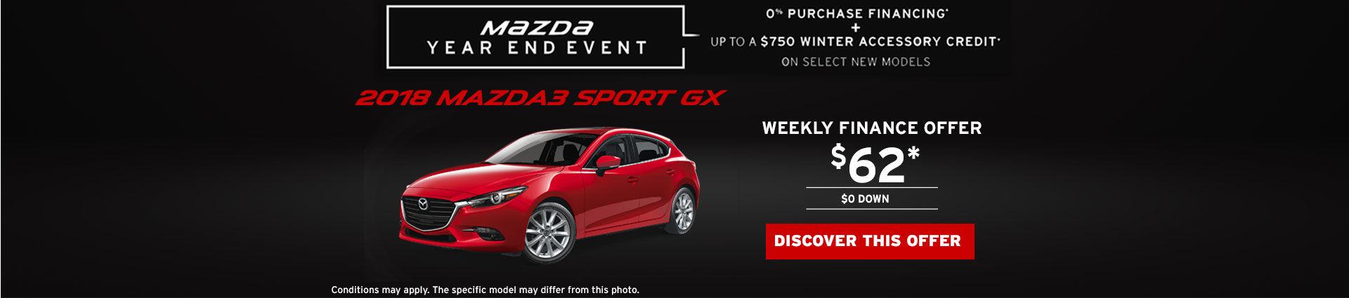Finance the 2018 Mazda 3 Sport