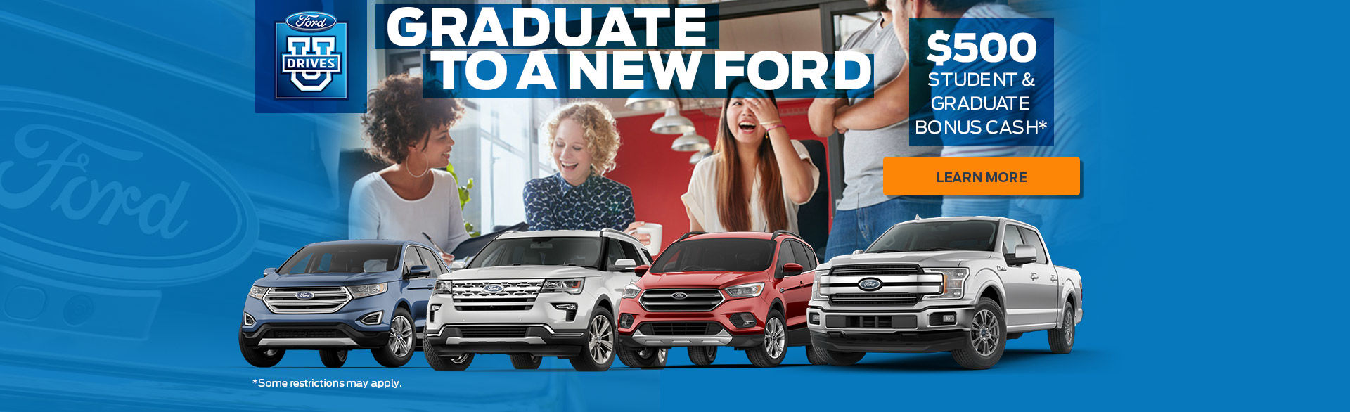 Graduate to a new ford