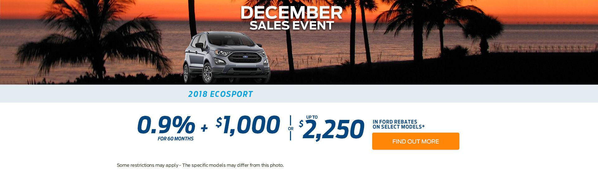 December sales event - ecosport