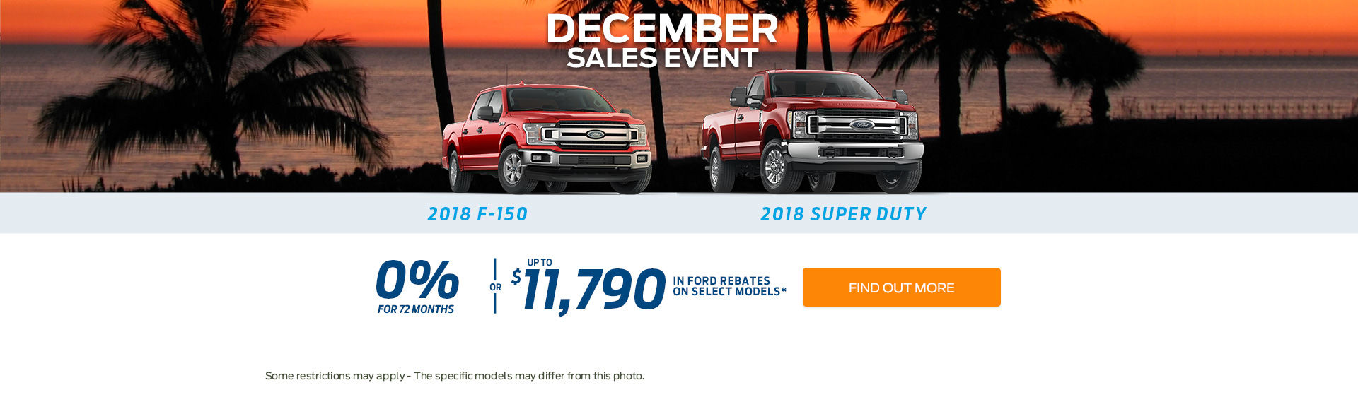 December sales event - trucks