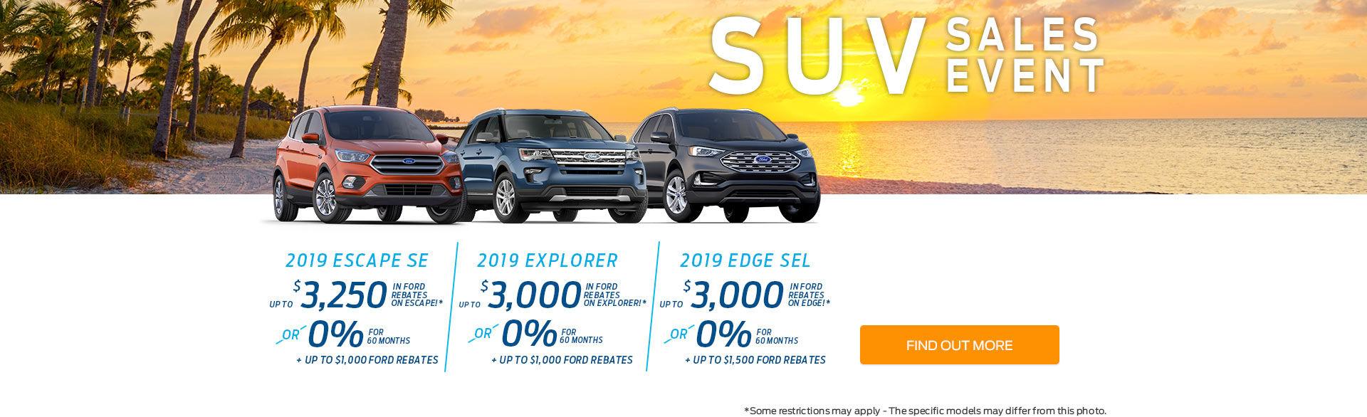 SUV Sales Event