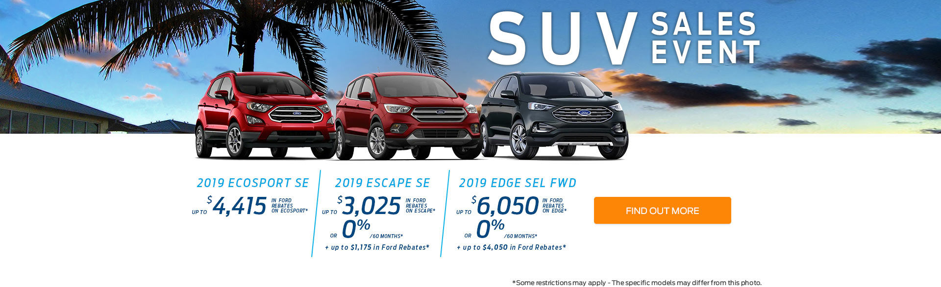 SUV Sales Event