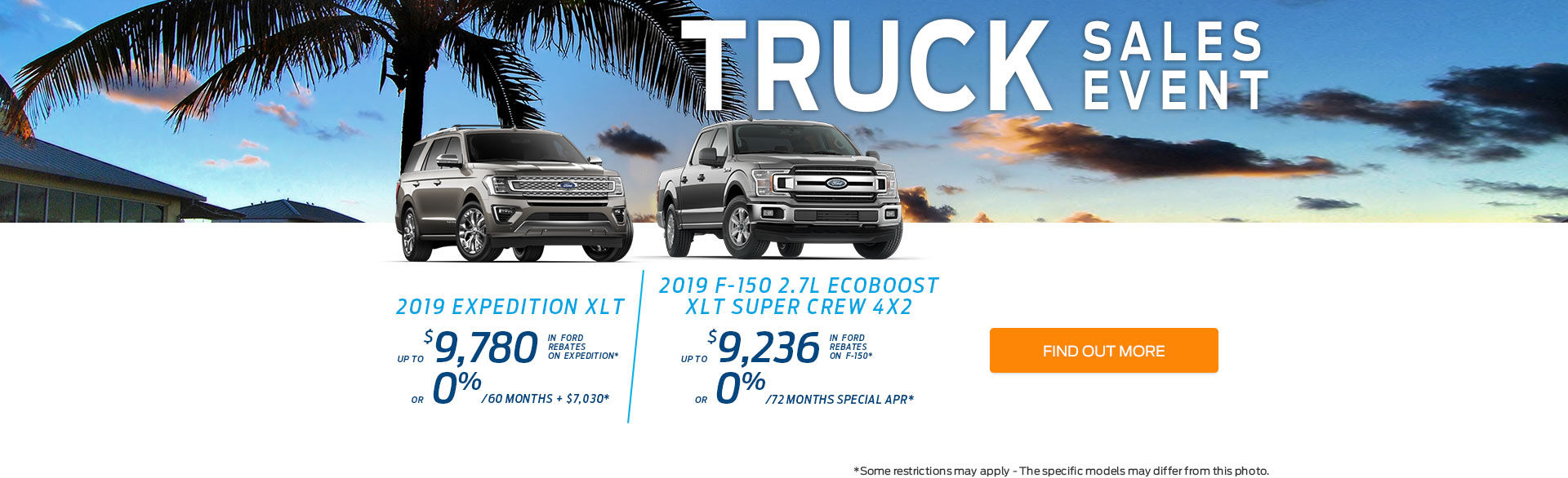 June Sales Event Trucks