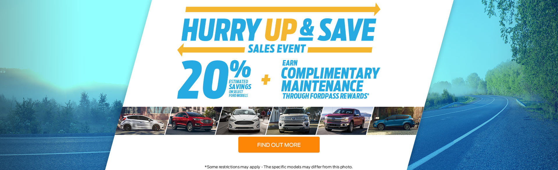 Hurry Up & Save Sales Event