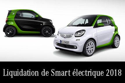 Liquidation de Smart électrique 2018