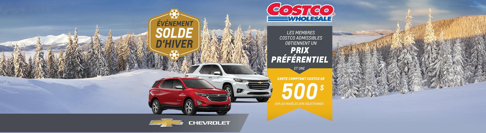 Chevrolet offre Costco