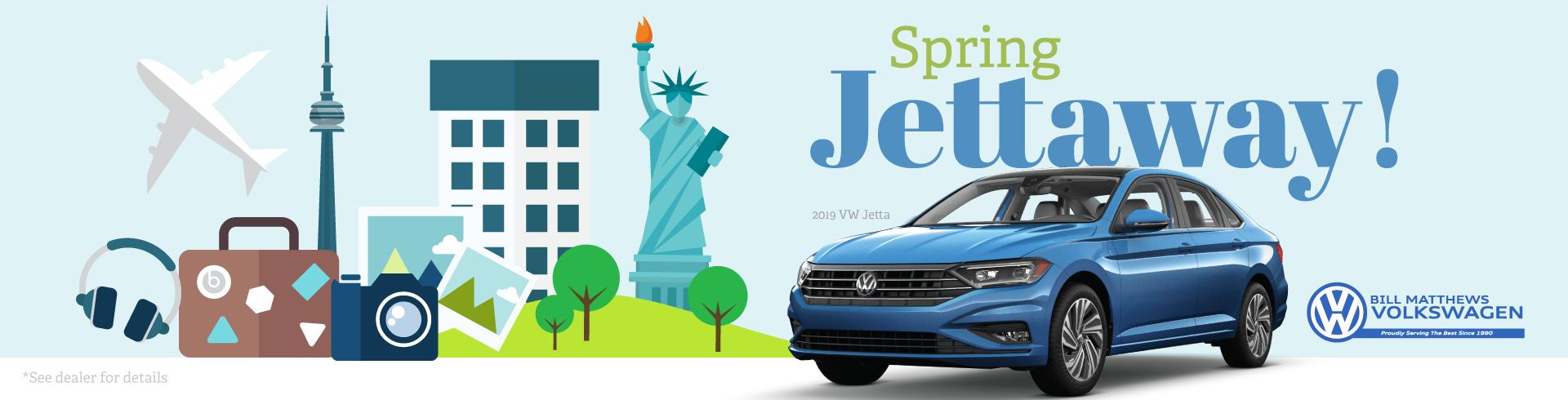 Spring Jettaway! Website Banner