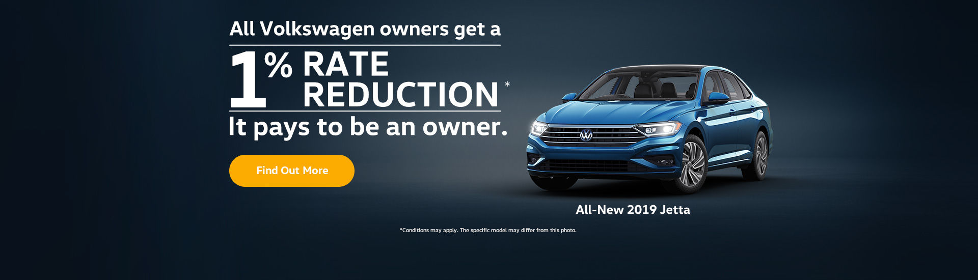 Jetta 1% rate reduction