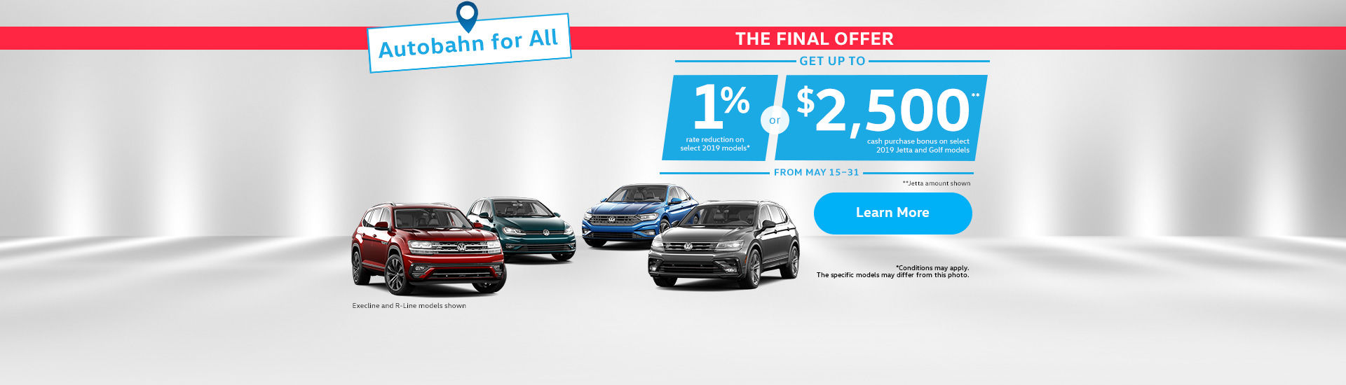 Autobahn for All Sales Event ( short sale)