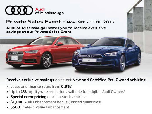 Audi Of Mississauga S Private Sales Event Audi Of Mississauga