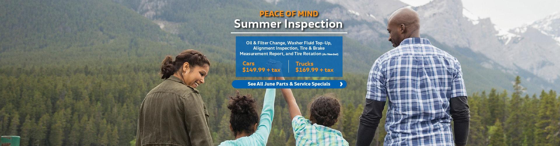 Summer Inspection Special (Slider)