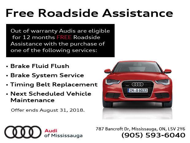 Free Roadside Assistance Audi Of Mississauga - Audi roadside assistance