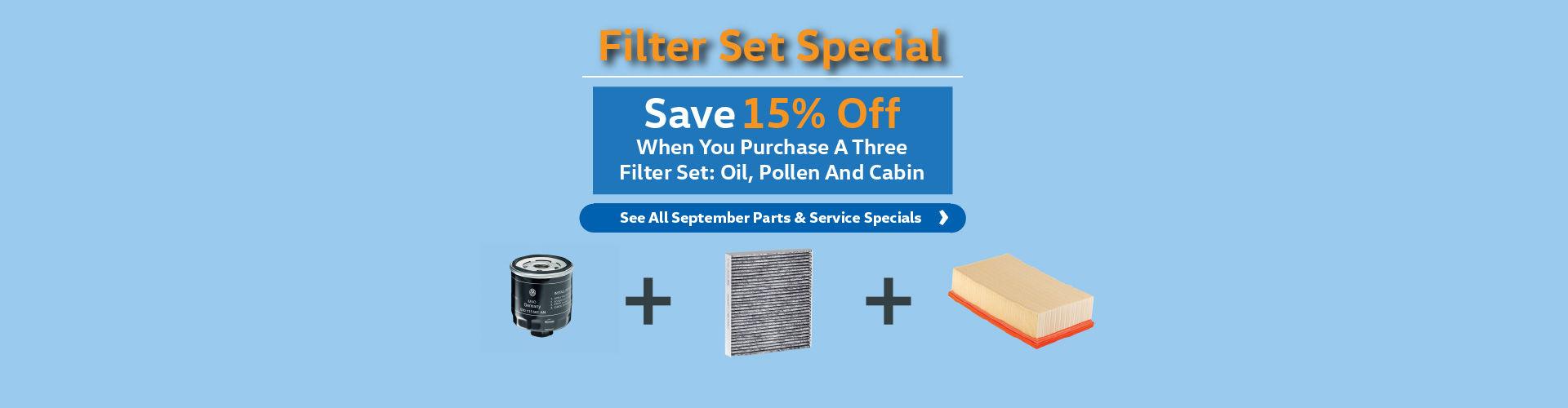 Filter Set Special