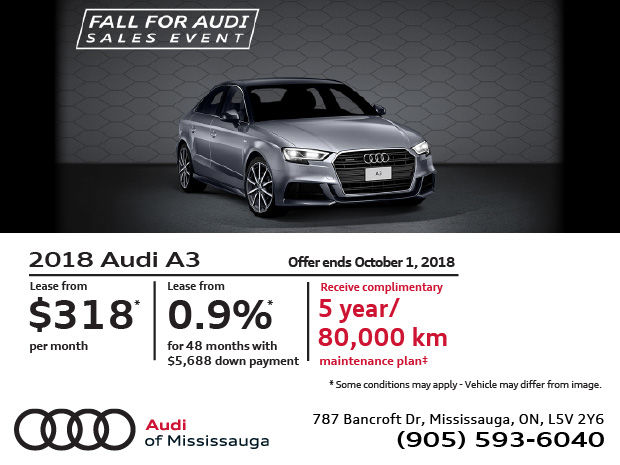 Audi A3: Fall For Audi Sales Event