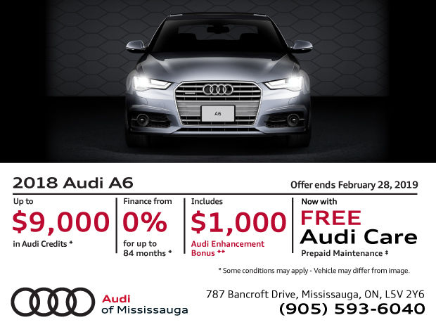 2018 Audi A6 February Offer Audi Of Mississauga