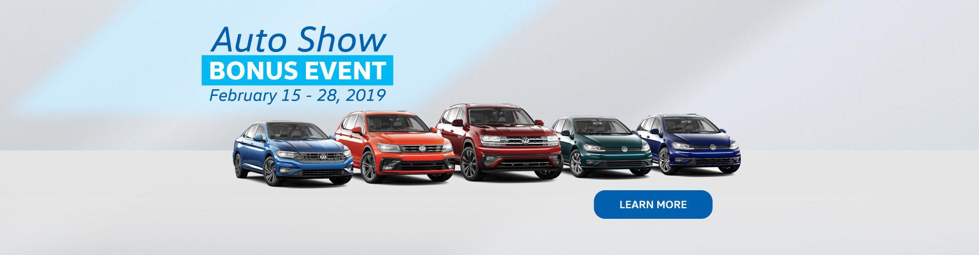 Auto Show Bonus Event