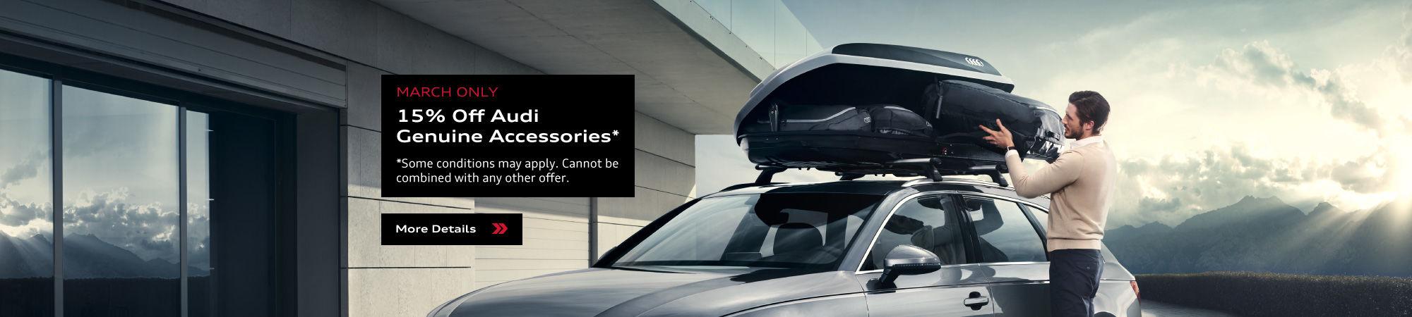 15% Off Audi Genuine Accessories
