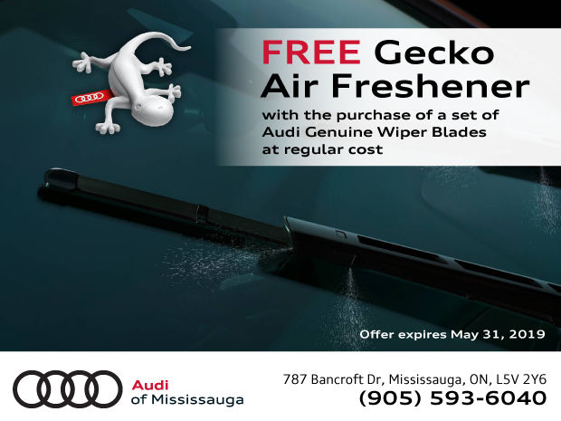 FREE Gecko Air Freshener With The Purchase Of A Set Of Audi Genuine Wiper Blades