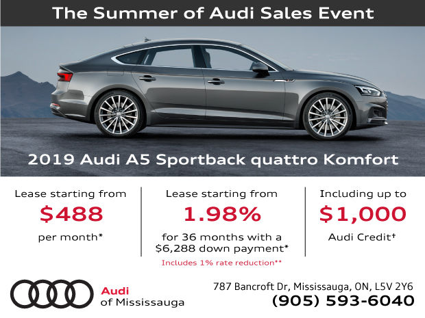 EXTENDED! Summer of Audi Sales Event | 2019 Audi A5 Sportback