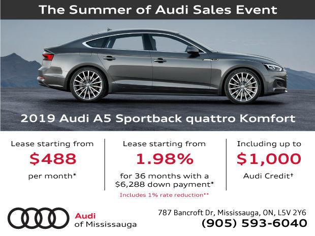 Summer of Audi Sales Event | 2019 Audi A5 Sportback
