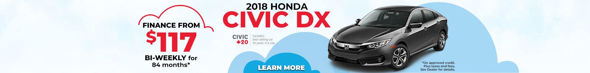 Finance the 2018 Honda Civic DX