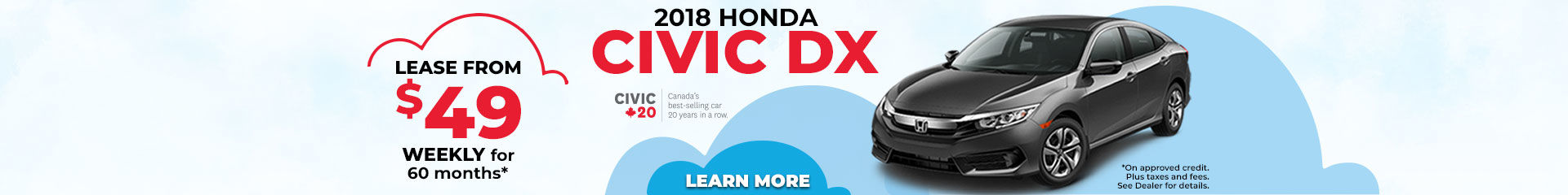 Lease the 2018 Honda Civic DX