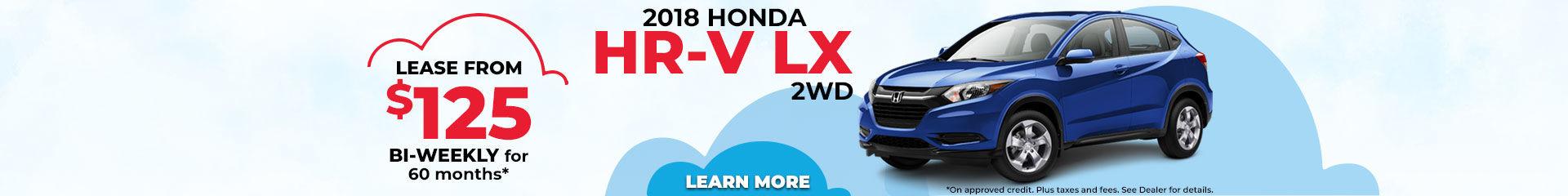 Lease the 2018 Honda HR-V LX