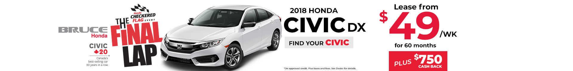 Lease the 2018 Honda Civic DX