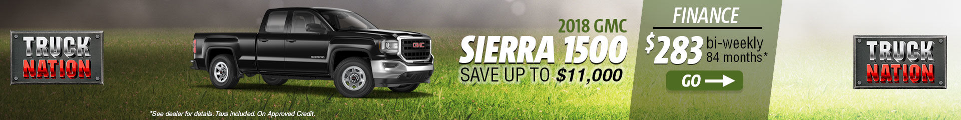 Finance the 2018 GMC Sierra 1500