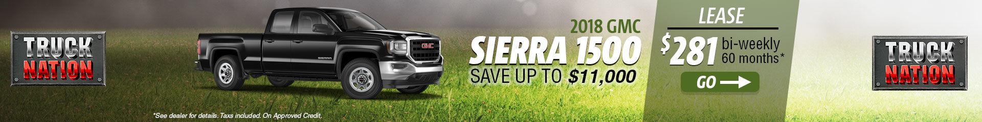 Lease the 2018 GMC Sierra 1500