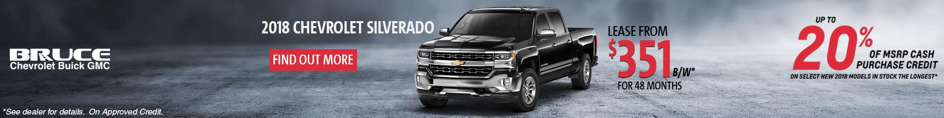 Lease the 2018 Chevy Silverado