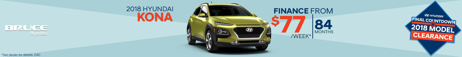 Finance the 2018 Hyundai Kona