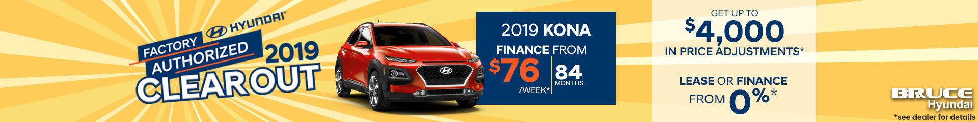Finance the 2019 Hyundai Kona