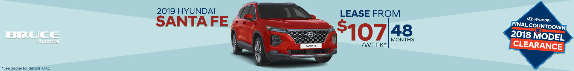Lease the all-new 2019 Santa Fe