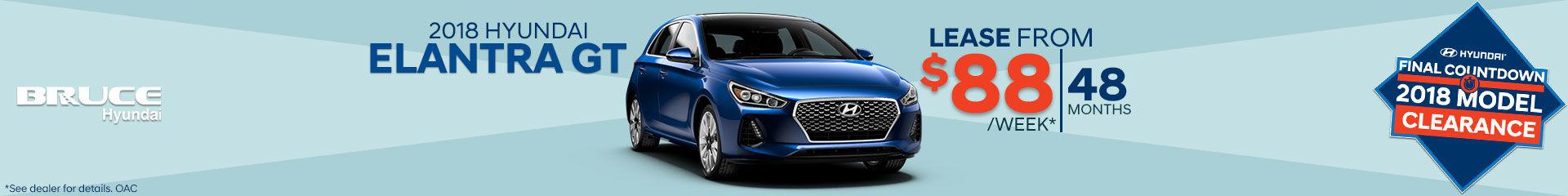 Lease the 2018 Hyundai Elantra GT