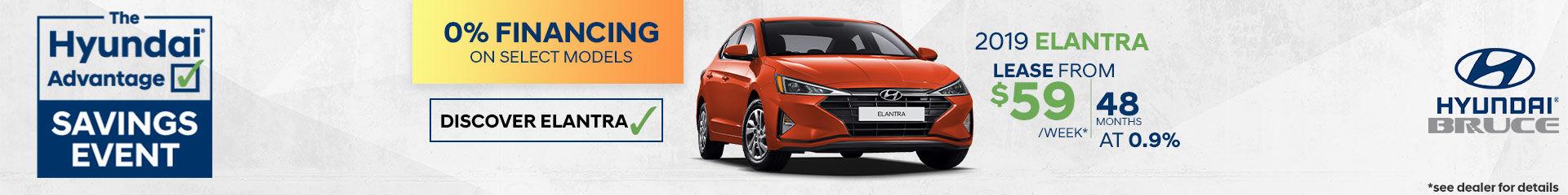 Lease the 2019 Hyundai Elantra
