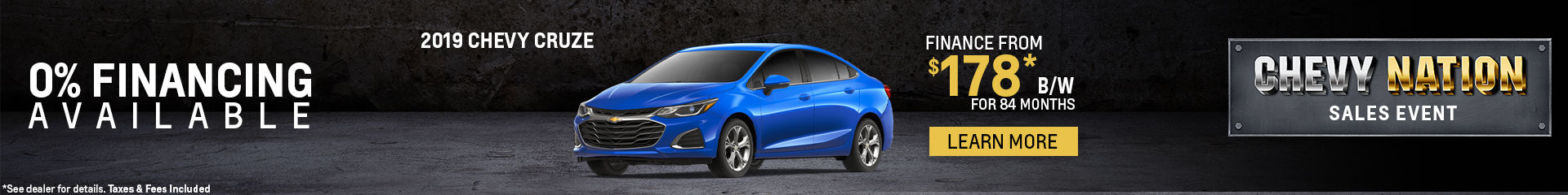 Finance the 2019 Chevy Cruze