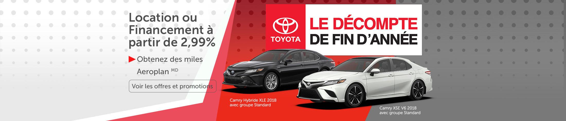 Le décompte de fin d'année Toyota