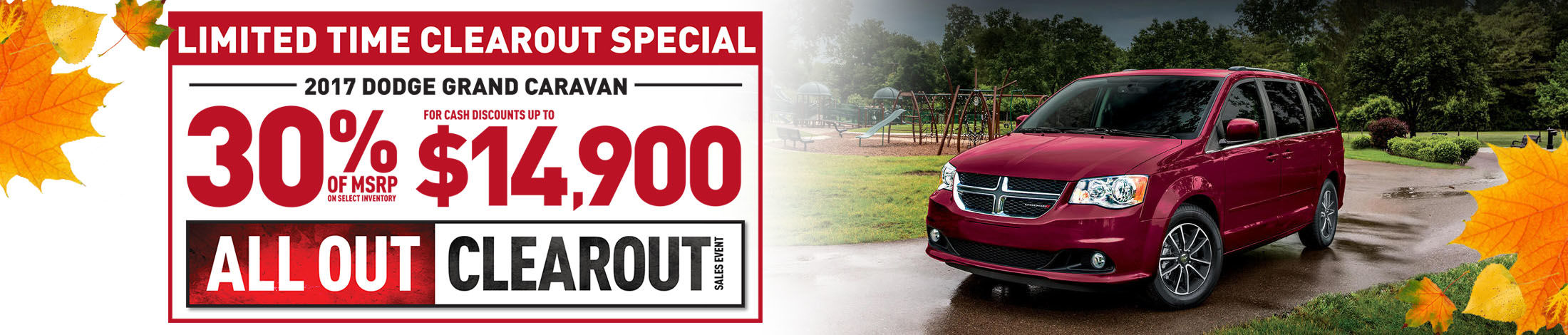 All out clearout sales event Caravan