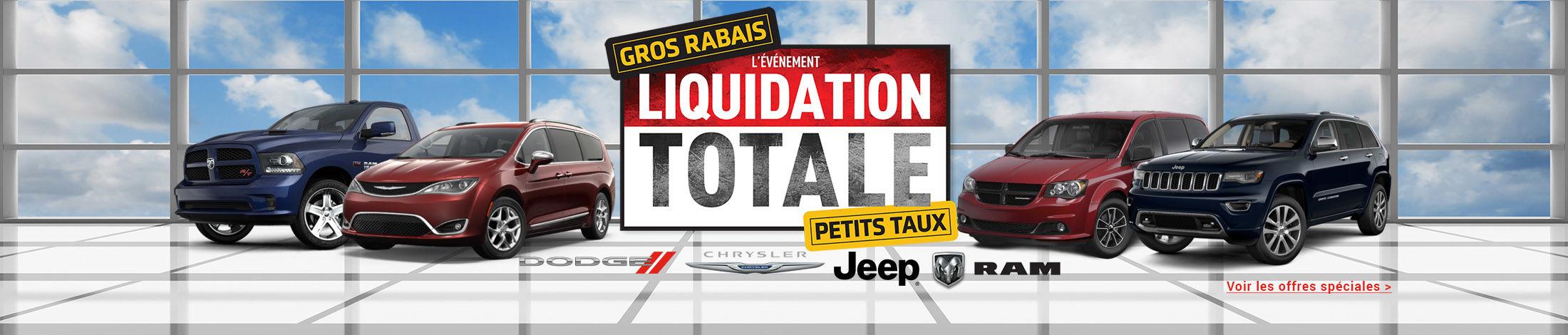 L'événement liquidation Totale
