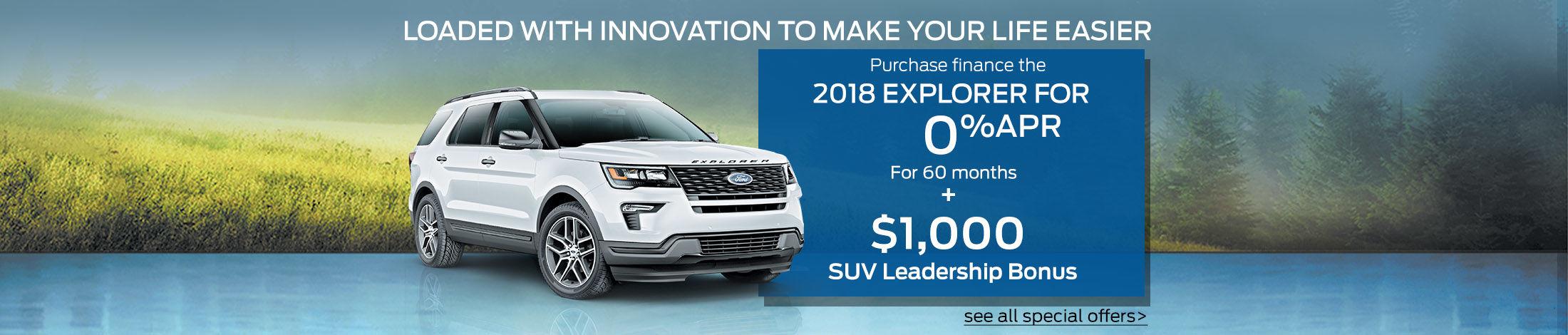 SUV leadership bonus explorer 2018