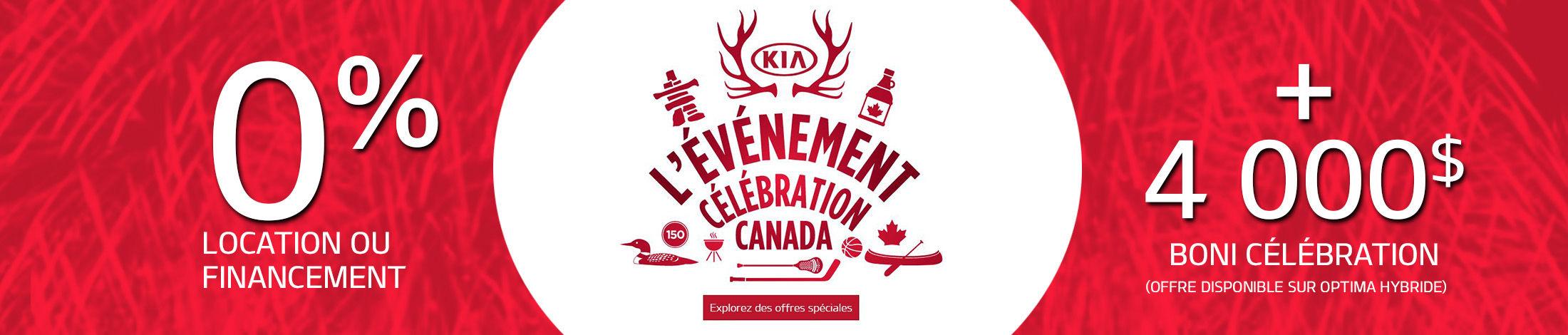 L'évènement célébration canada